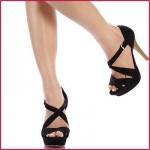 yazlik siyah yuksek topuklu ayakkabi modelleri