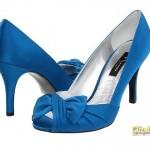 mavi fiyonklu abiye ayakkabi modelleri