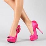 pembe topuklu abiye ayakkabi modelleri