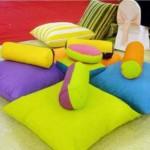 renkli dekoratif minder ornekleri
