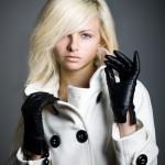 siyah deri eldiven modelleri
