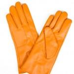 turuncu bayan deri eldiven modelleri