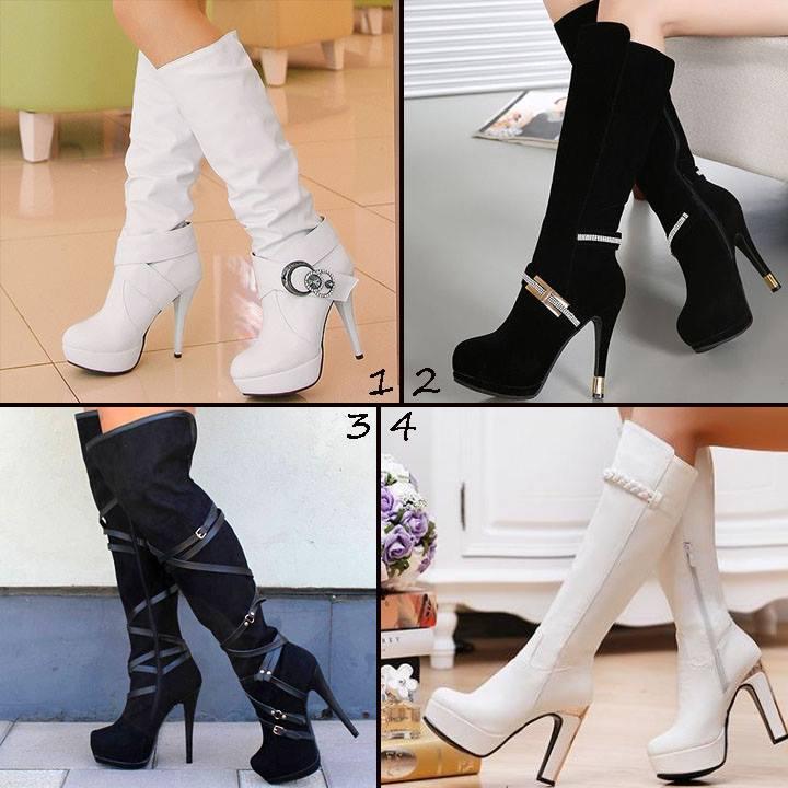 Topuklu Bayan Çizme Modelleri