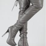 gri yuksek topuklu 2013 bayan cizme modelleri