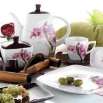 çiçekli farklı karaca kahvaltı seti modeli