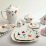 çiçekli trend karaca kahvaltı takımı