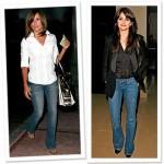 ünlülerin tercihi bayan kot pantolon modelleri