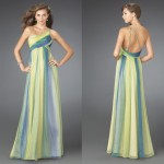 Şifon renkli uzun abiye elbise modeli