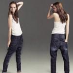 şalvar şeklinde bayan kot pantolon modelleri