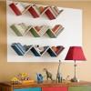 Renkli dekoratif duvar rafı modeli 100x100 Dekoratif Raf Modelleri
