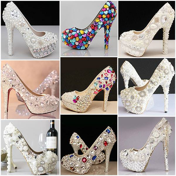 Taş İşlemeli Bayan Topuklu Ayakkabı Modelleri