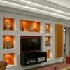Tavan ve duvar birleşimi niş modeli 100x100 Duvar Niş Modelleri