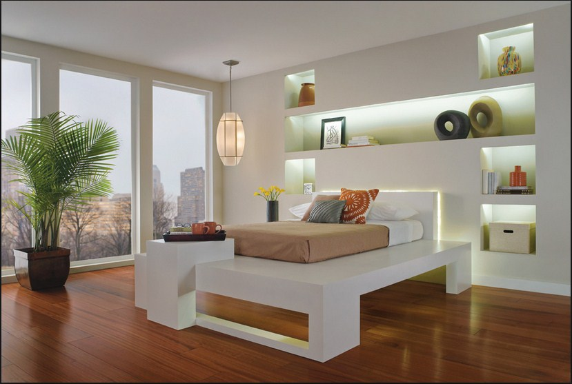 Yatak Odasında Modern Niş Dizayn