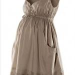 gri kısa boy hamile elbise modeli