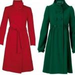 kırmızı yeşil bayan manto modeli