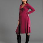 koyu pembe hamile elbise modeli