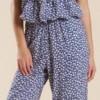 mavi desenli bayan tulum elbise modeli 100x100 Bayan Tulum Elbise Modelleri