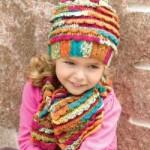 renk renk trend kız çocuk atkı bere modeli
