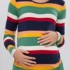renkli çizgili lcw hamile bluz modeli