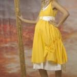 sarı hamile elbise modeli