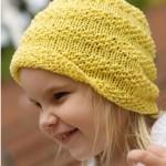 sarı kız çocuk bere modeli