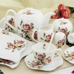 trend capcanlı çiçekli karaca kahvaltı takımı