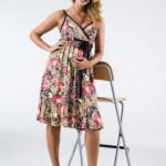 trend desenli hamile elbise modeli
