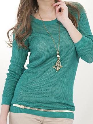 yeşil oxxo bayan kazak modeli