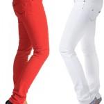 yepyeni renkli bayan kot pantolon modelleri