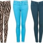 zebra turkuaz yeşil bayan kot pantolon modelleri