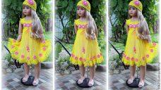 Örgü Kız Çocuk Elbiseleri