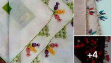 Üç Yapraklı Çiçeklerden İğne Oyası Modelleri