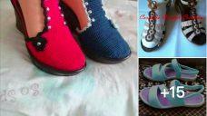 Örgü Bayan Ayakkabı Modelleri