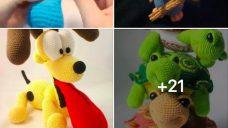 Örgü Oyuncak Köpek Modelleri