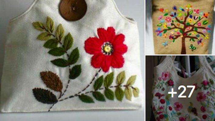Dikiş Nakış İşlemleri Kullanılarak Yapılan Kadın Çantaları