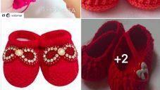 Kırmızı Renkli Bebek Patikleri