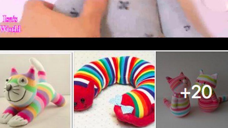 Çoraplarla Yapılan Rengarenk Oyuncaklar