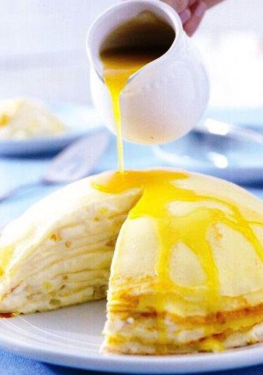 Ananaslı Krep Pastası