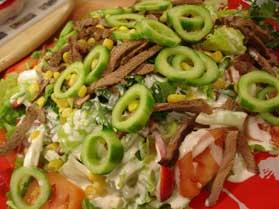 Krem Beyaz Soslu Biftek Salatası