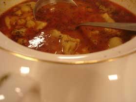 Nohutlu Mantılı Çorba