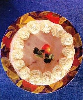 Çilekli Donmuş Mus Kek