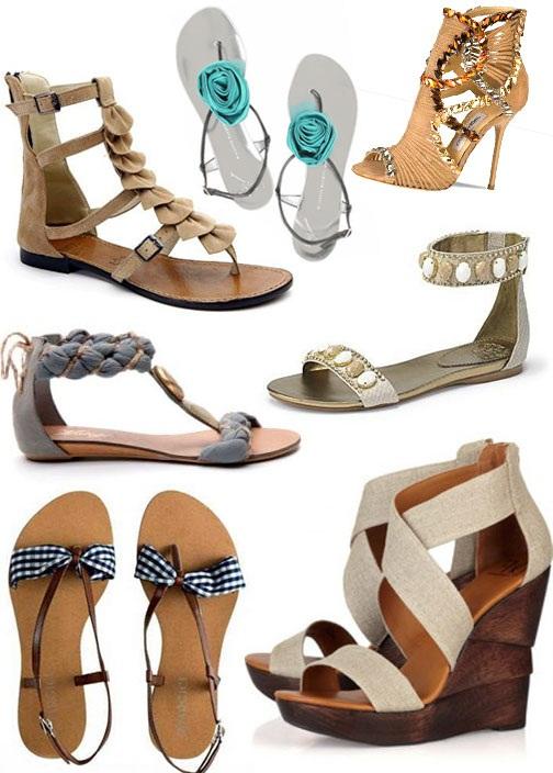 Bayan Yazlık Sandalet Ayakkabı Modeli