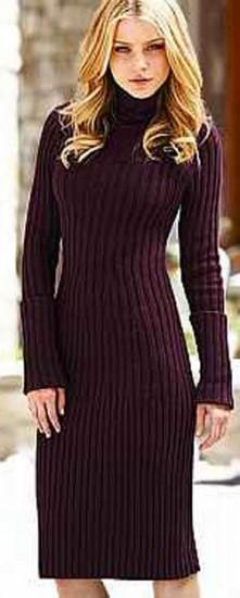 809005815d5e8 uzun kollu bordo triko elbise modeli | KadınlarPlatformu.Com