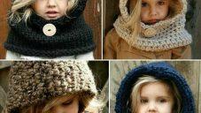 Kız Çocuk Atkı ve Bere Modelleri