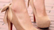 Yüksek Topuklu Platform Tabanlı Bayan Ayakkabıları