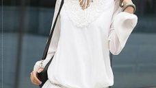 2012 Yazlık Beyaz Elbise Modeli