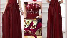 Kırmızı Uzun Abiye Elbise Modelleri