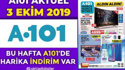 A101 3 EKİM 2019 AKTÜEL KATALOGU