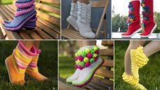 El Örgüsü Bayan Çorap Modelleri