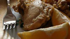 Limon ve Domates Eşliğinde Bulgurlu Tavuk